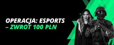 Promocje w LV BET: Operacja: Esports – zwrot 100 PLN